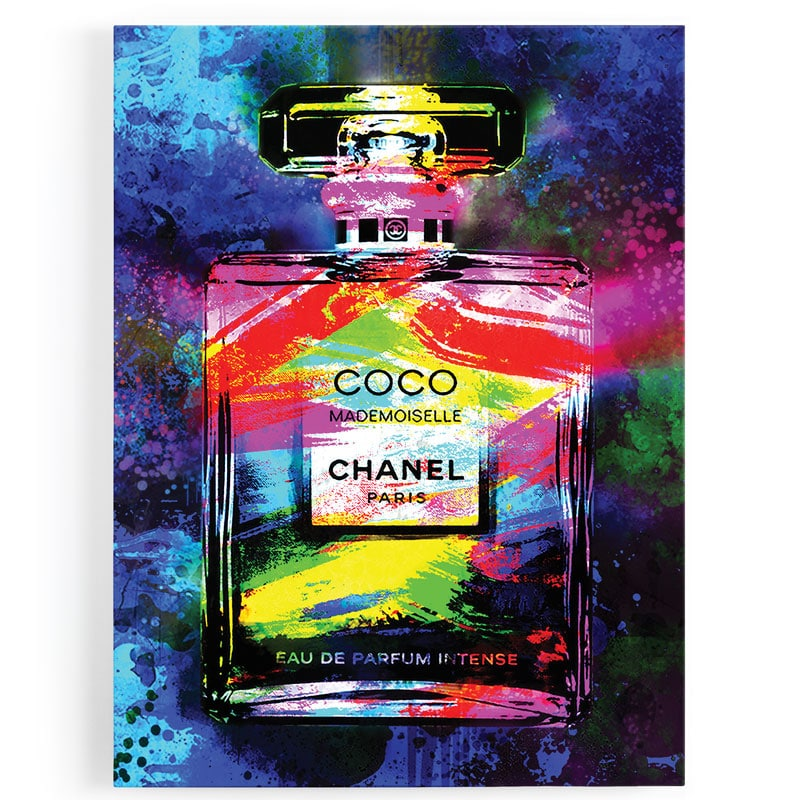 tableau chanel coco pop art street art
