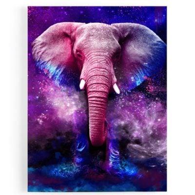 Tableau-elephant-bleu-coloré-multicolore-popart-
