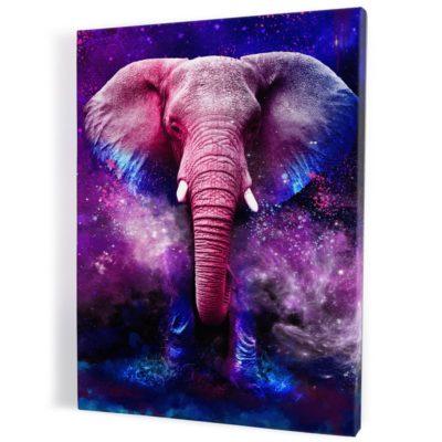Tableau-elephant-coloré-multicolore-popart-