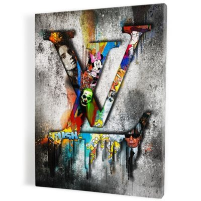 Tableau-louis-vuitton-popart-coloré-art-