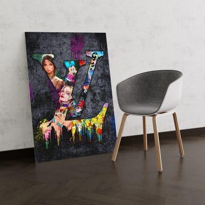 tableau toile cadre lv louis vuitton pop art street art 04