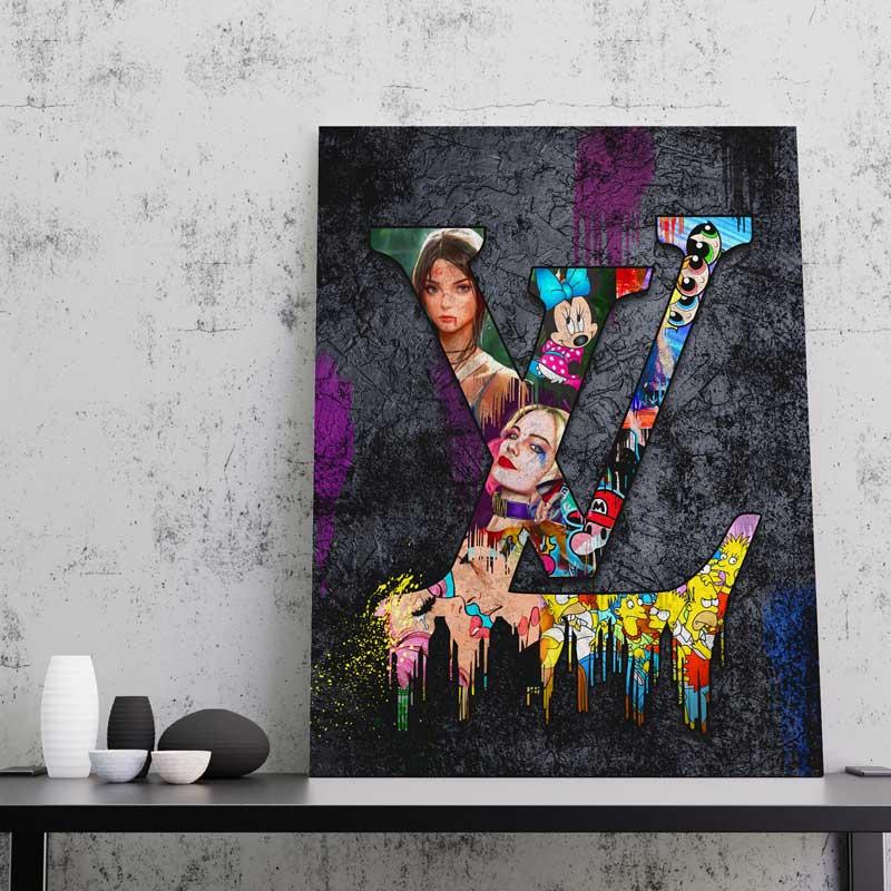 tableau toile cadre lv louis vuitton pop art street art 03