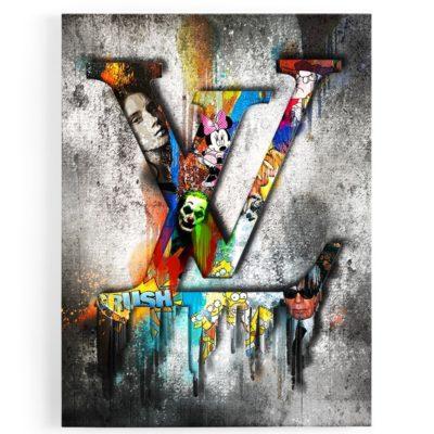 Tableau-toile-louis-vuitton-popart-coloré-art-