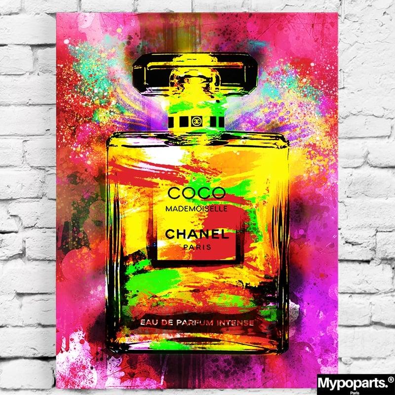 tableau coco chanel pop art coloré