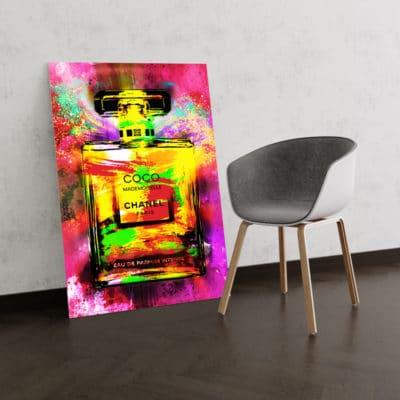 tableau coco chanel pop luxe art