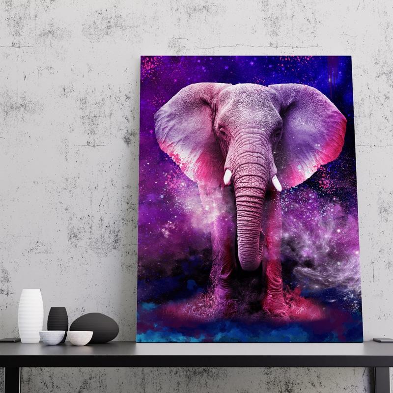 tableau elephant coloré
