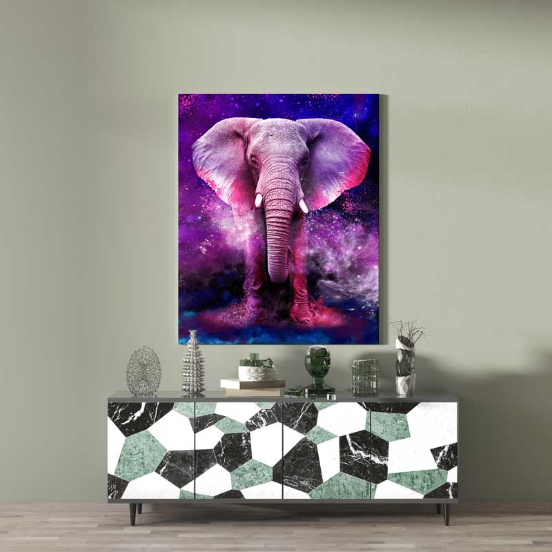 tableau elephant animaux pop art street art
