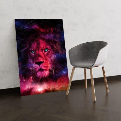 tableau lion pop art