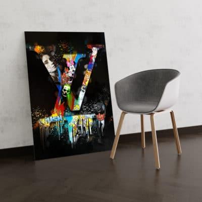 tableau louis vuitton luxe pop art deco
