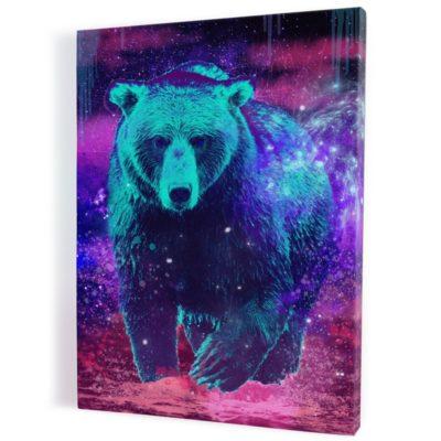 tableau-ours-coloré-popart-multicolore-1