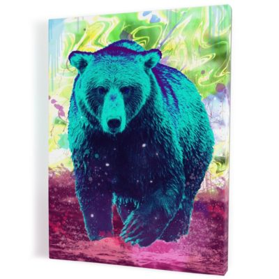 tableau-ours-coloré-popart-multicolore