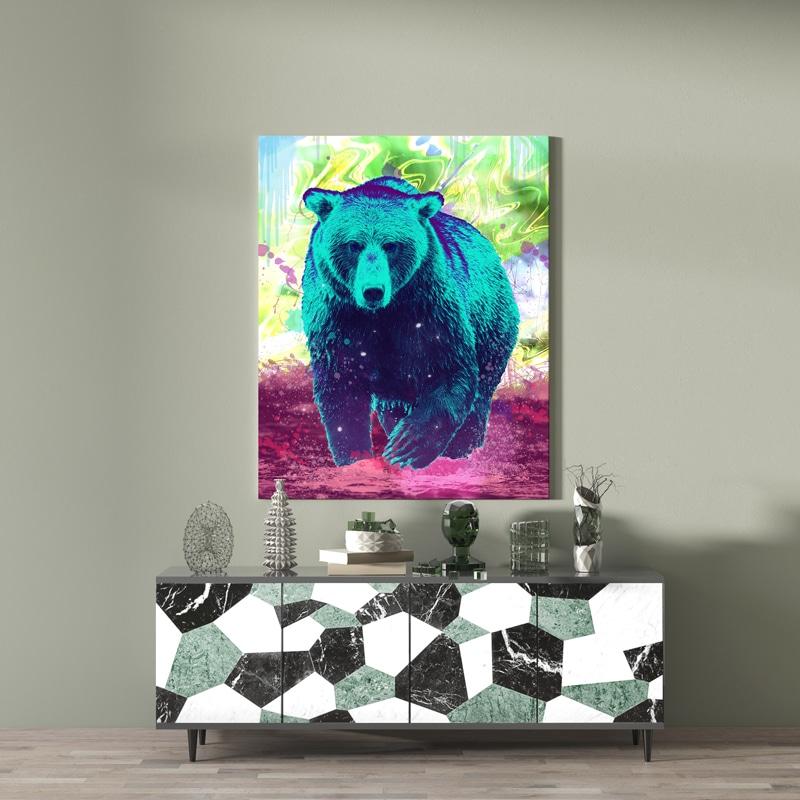 tableau pop art animaux
