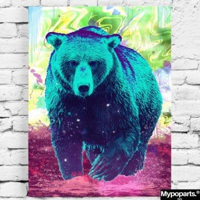 tableau ours multicolore