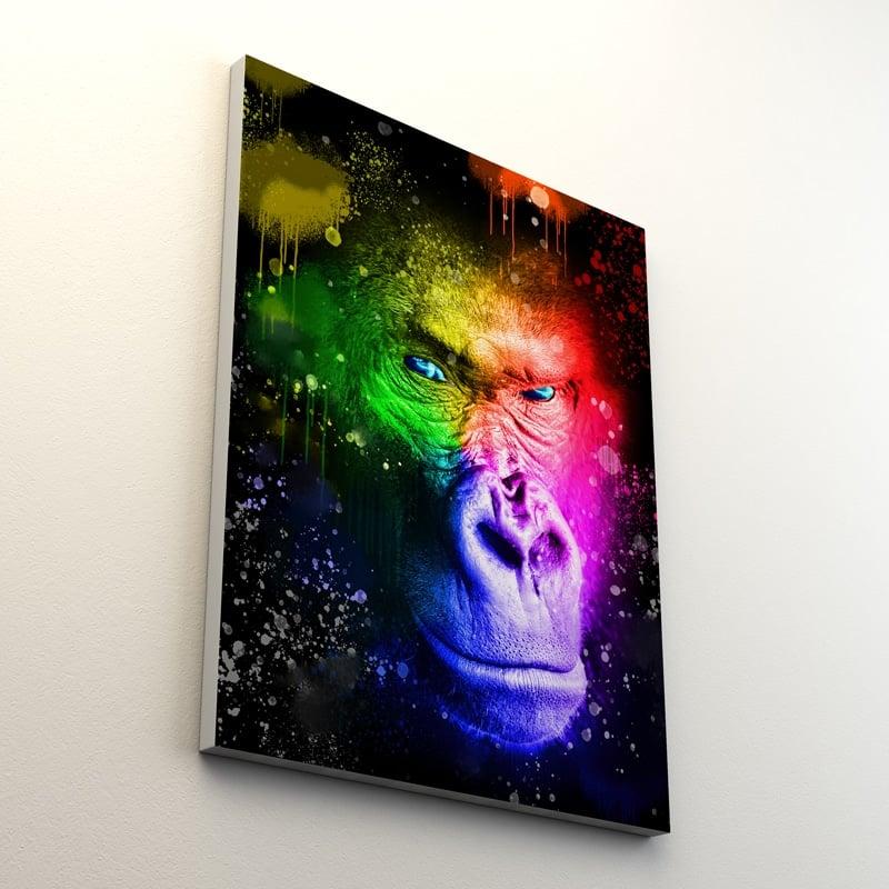 tableau singe gorille animaux coloré decoration