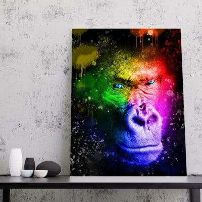 tableau gorille sreet art