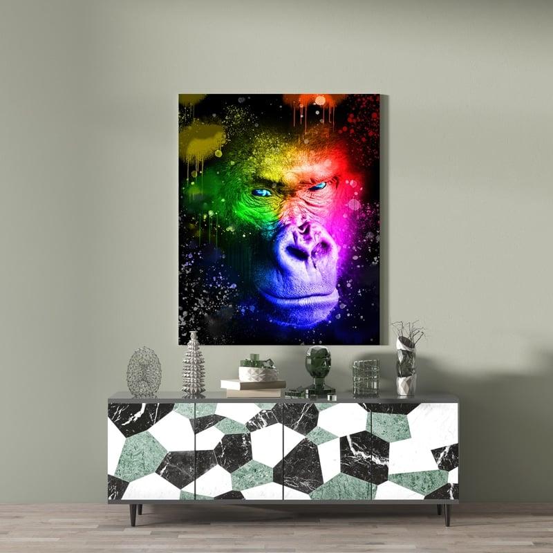 tableau gorille pop art