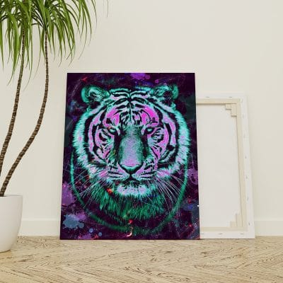 tableau coloré tigre
