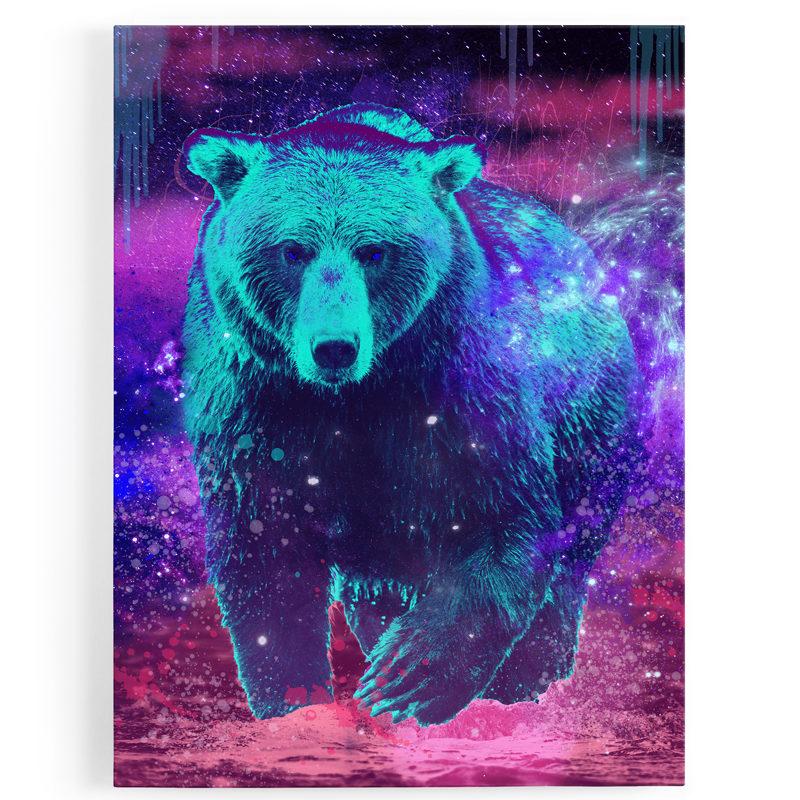 tableau-toile-ours-coloré-popart-multicolore-1
