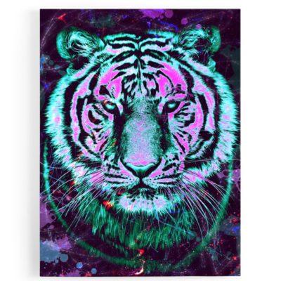 tableau-toile-tigre-coloré-multicolore-popart