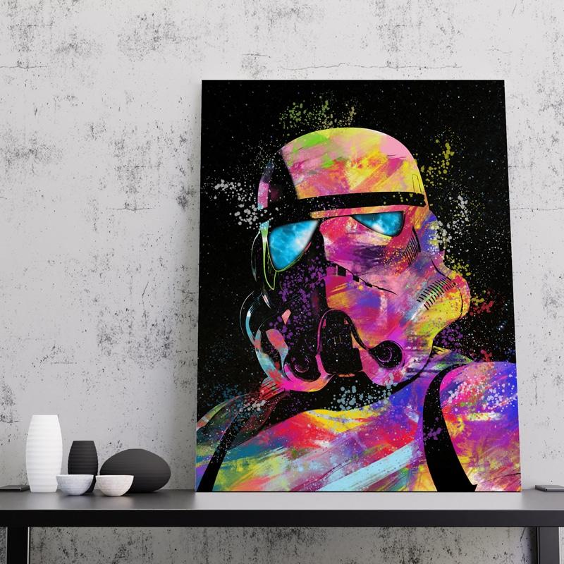 Stormtrooper geek tableau decoration starwars Stormtrooper