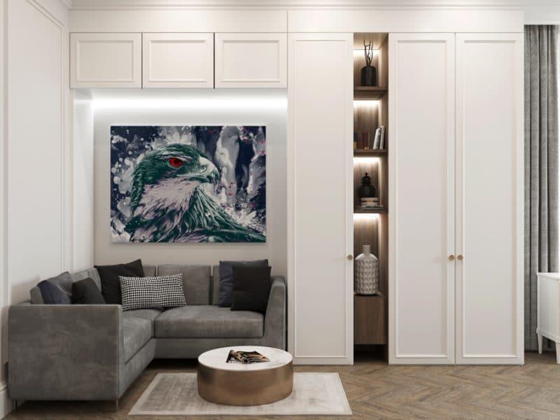 tableau faucon vert aigle tableau animaux