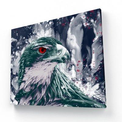 tableau faucon aigle coloré pop art