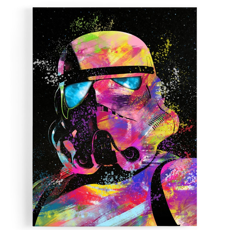 tableau-cadre-toile-stormtrooper-starwars-geek-style-popart-coloré