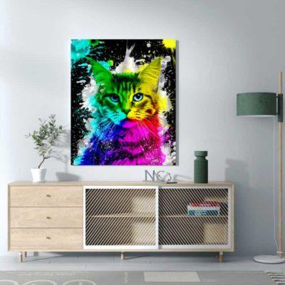 tableau chat pop art