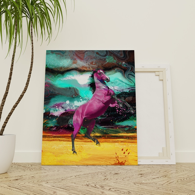 tableau cheval decoration murale poster toi cadre cheval deco