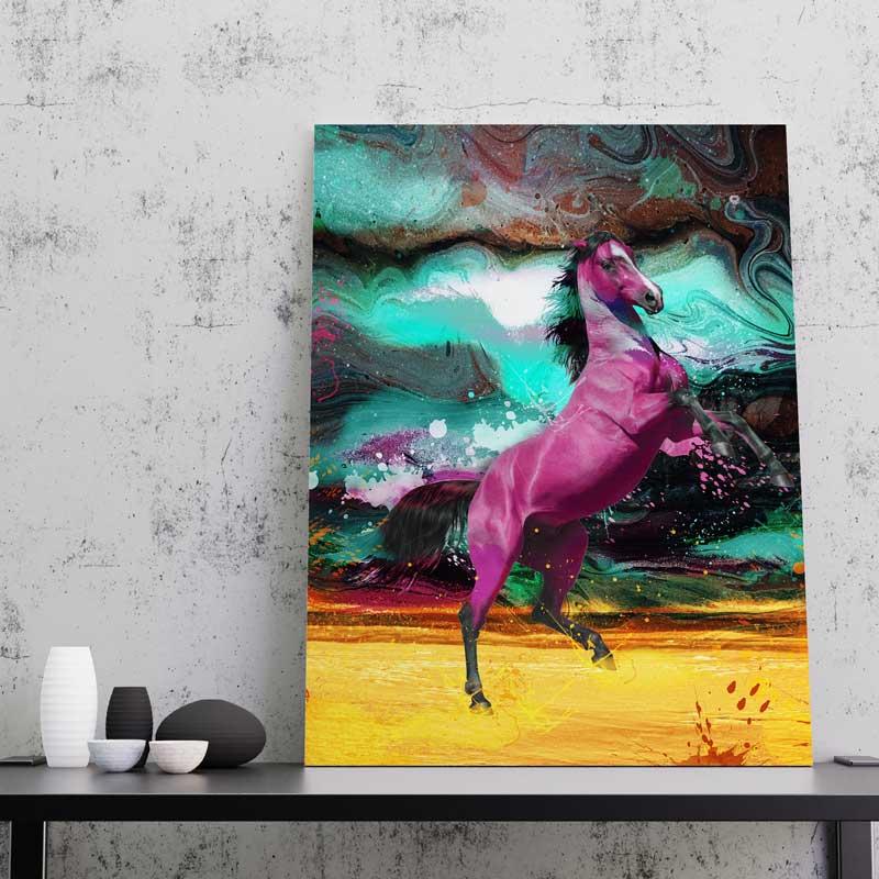 tableau cheval pop art