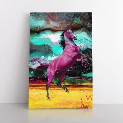 tableau cheval coloré