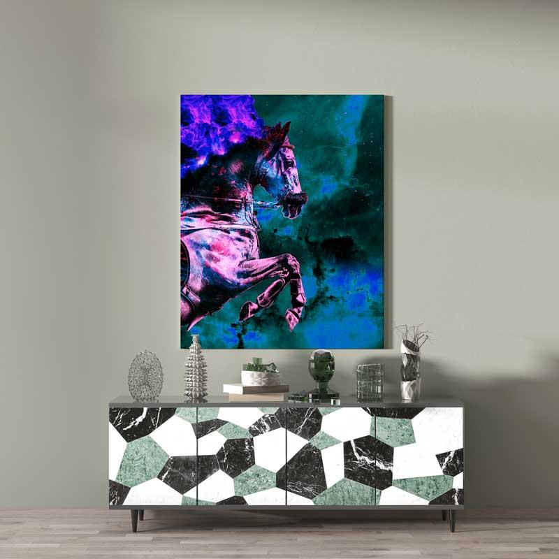 cadre cheval coloré