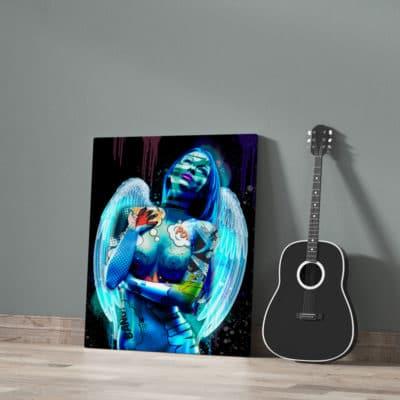 tableau femme ange