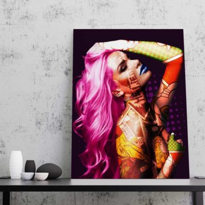 femme nue deco pop art toile cadre poster femme nue pop art
