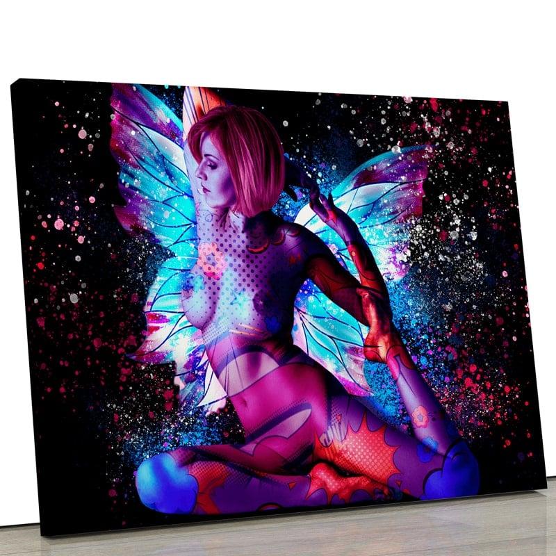 tableau femme-popart-nue-coloré