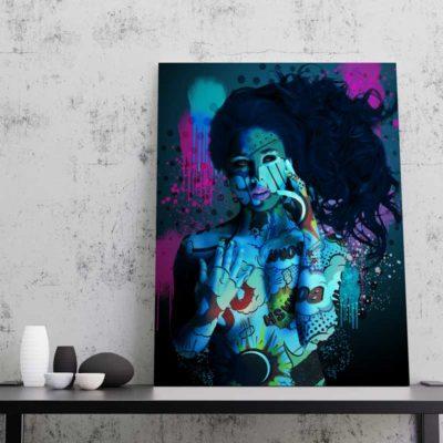 tableau pop art femme art sexy pop art
