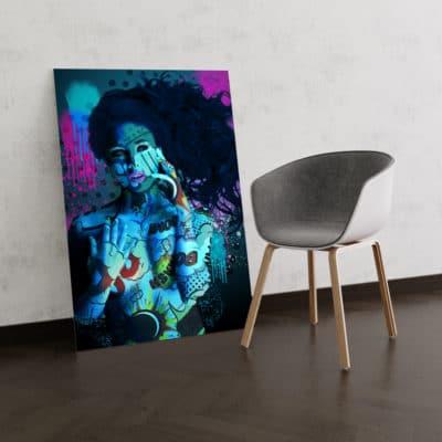 tableau femme nue pop art