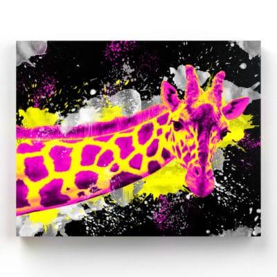 tableau cadre girafe pop art