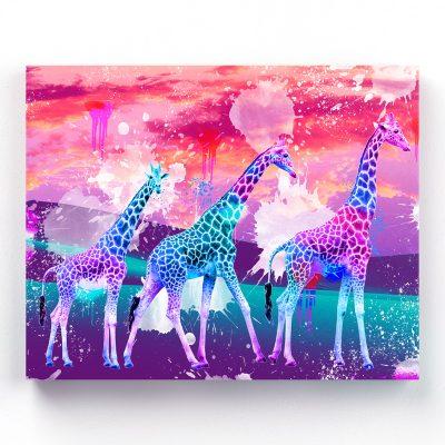 tableau girafe