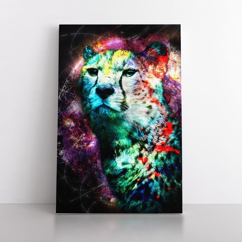tableau guepard pop art animaux