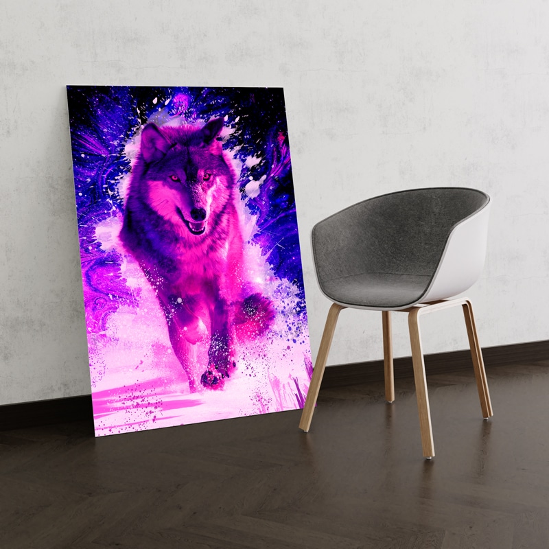 poster loup decoration murale loup