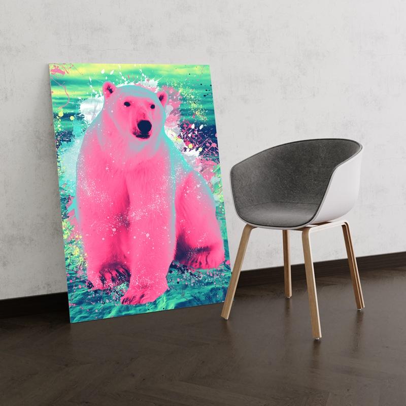 tableau ours polaire pop art