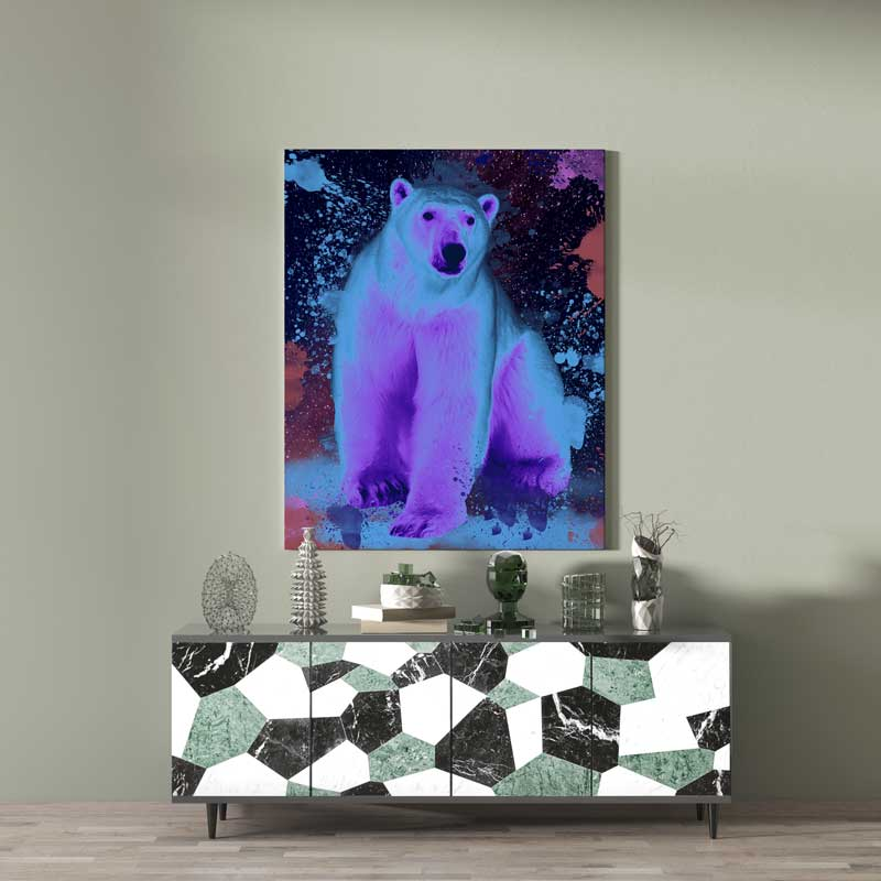 art animaux ours polaire decoration murale