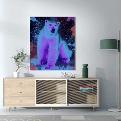 ours polaire pop art art decoration deco