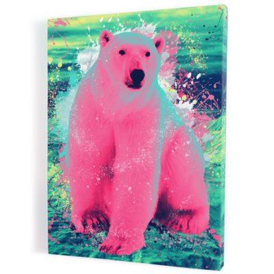 tableau-ours-polaire-coloré-popart-streetart