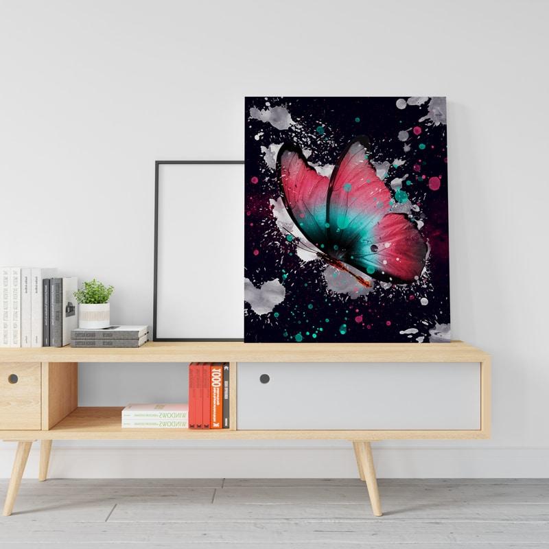 tableau toile poster papillon