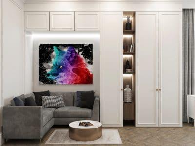 tableau renard coloré