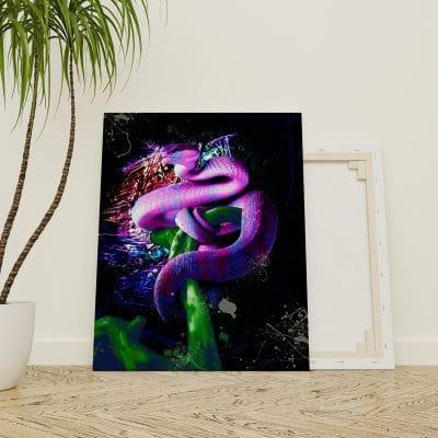 tableau serpent animaux pop art deco poster cadre