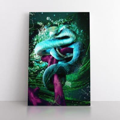 tableau serpent street art
