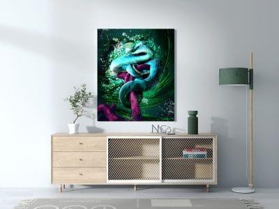 tableau serpent pop art
